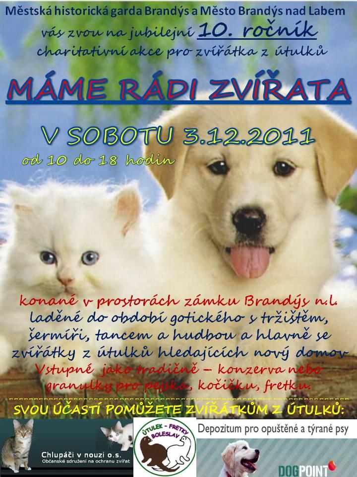 Máme rádi zvířata plakát